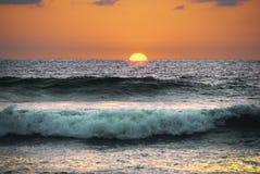 заход солнца Costa Rica Стоковое Фото