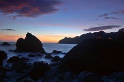 заход солнца muir пляжа Стоковое фото RF