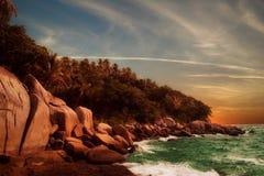заход солнца phuket Стоковое Изображение
