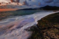 заход солнца phuket Стоковое фото RF