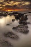 заход солнца phuket Стоковая Фотография RF