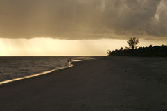 заход солнца sanibel Стоковые Изображения RF