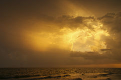 заход солнца sanibel Стоковое Фото
