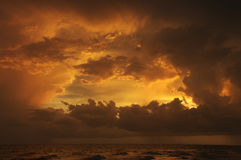 заход солнца sanibel Стоковые Фотографии RF