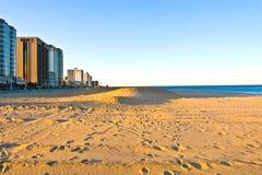 заход солнца virginia пляжа Стоковые Фото