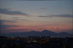 Заход солнца  àNẵng Ä Стоковые Изображения RF