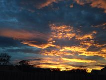 Заход солнца Абердина Стоковые Фото