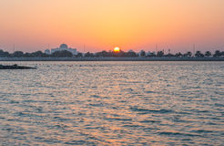 Заход солнца Абу-Даби Стоковое Изображение RF