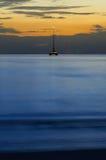Заход солнца ландшафта тропический на пляже Стоковое Фото
