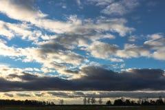 Заход солнца, ландшафт Стоковое Фото