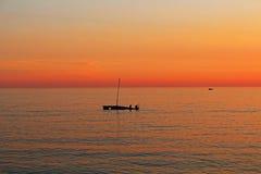 Заход солнца апельсина Saccorgiana Стоковое Фото