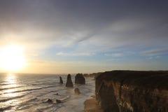 заход солнца 12 апостолов Стоковое Фото