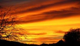 Заход солнца Аризоны Стоковые Изображения