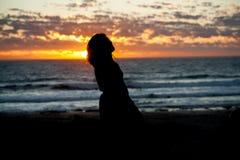 заход солнца Африки южный Стоковая Фотография