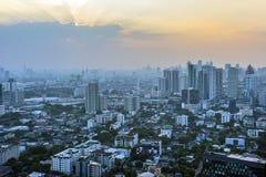 Заход солнца Бангкока Стоковое Изображение RF