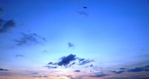 заход солнца Балтийского моря предпосылки Стоковая Фотография