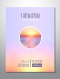 заход солнца Балтийского моря предпосылки Tem дизайна крышки света брошюры стоковое фото rf
