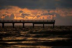 заход солнца Балтийского моря стоковое изображение