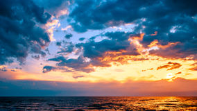 заход солнца Балтийского моря Стоковые Изображения RF