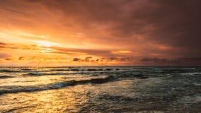 заход солнца Балтийского моря Стоковые Фото