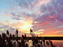 Заход солнца берега Джерси Стоковая Фотография RF