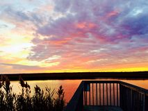 Заход солнца берега Джерси Стоковое Изображение