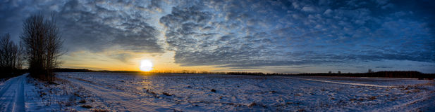 Заход солнца болота Стоковое Изображение