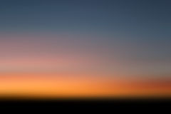 Заход солнца будя Стоковое Изображение