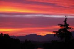 Заход солнца Ванкувера Стоковые Фотографии RF