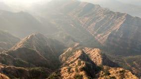 Заход солнца верхней части холма Стоковое Фото