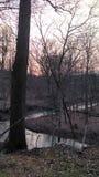 Заход солнца весеннего времени стоковая фотография rf