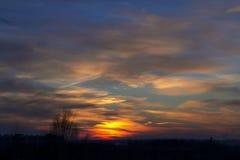 Заход солнца весны стоковые изображения rf