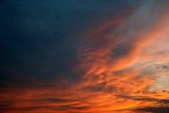 Заход солнца вечера лета Стоковые Изображения