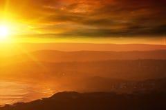 Заход солнца вечера Стоковые Фотографии RF