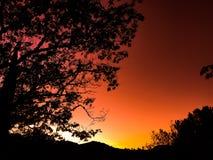 Заход солнца вечера Стоковое Изображение RF
