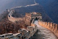 Заход солнца Великой Китайской Стены Стоковое Изображение RF
