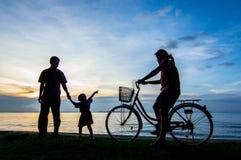 Заход солнца велосипеда Стоковая Фотография