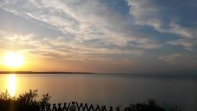 заход солнца взморья Девона Стоковое фото RF
