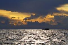 Заход солнца взморья Стоковое Фото