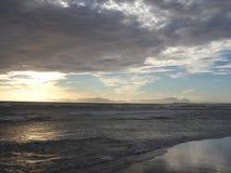 Заход солнца вида на океан Стоковые Фото