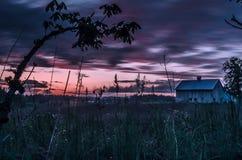 Заход солнца вне Портленда Стоковое фото RF
