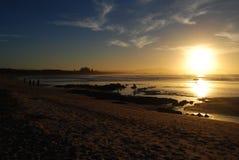 Заход солнца внутри Стоковая Фотография