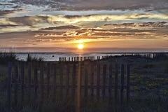 Заход солнца внутри Стоковое Фото