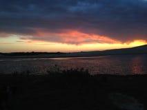 Заход солнца, восход солнца, море, вода Стоковое Фото
