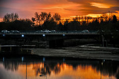 Заход солнца & восходы солнца Стоковые Фотографии RF