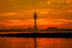 Заход солнца (восходящее солнце в утре) Стоковое фото RF