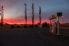 Заход солнца во время осени в Швеции Стоковые Фото