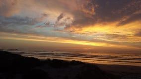 Заход солнца выплеска цвета Стоковая Фотография