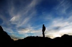 заход солнца вытаращиться Стоковые Изображения