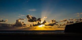 Заход солнца 2 в августе Стоковое Фото